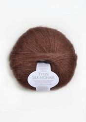Tunn Silk Mohair, dimmigt brun 4062