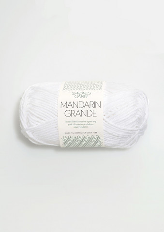 Mandarin grande, vit 1001