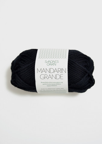 Mandarin grande, svart 1099