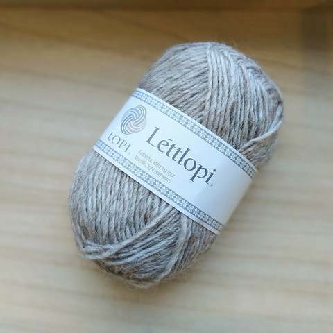 Léttlopi, light beige heather 0086