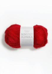 Børstet Alpakka, röd 4219