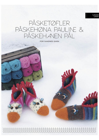 Påsketøfler Pauline & Paul (tovade påsktofflor)