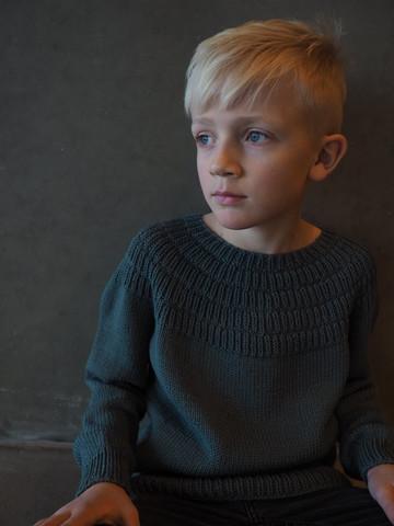 Ankers tröja junior, mönster på svenska