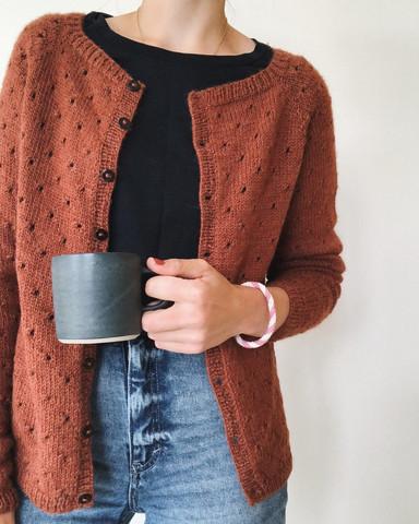 Annas cardigan - my size, på svenska