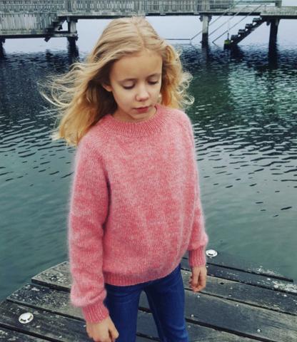 Inga krusiduller tröja - junior, mönster på svenska