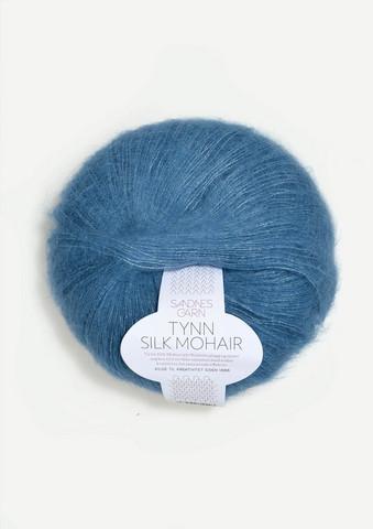 Tunn Silk Mohair, mörkt himmelsblå 6042