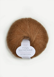 Tunn Silk Mohair, brunt socker 2543