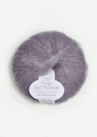 Ohut Silk Mohair, sumuinen syreeni 4631