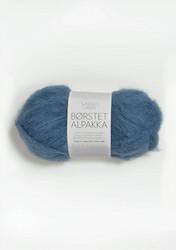 Børstet Alpakka, himmelsblå 6042