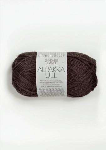 Alpakka Ull, brun 3571