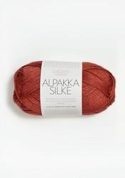 Sandnes Alpakka Silke, mörk terrakotta 4035