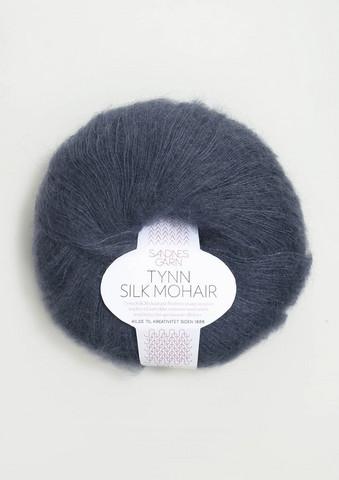 Tunn Silk Mohair, djupblå 6081