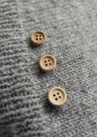 Vaalea puunappi, 13 mm