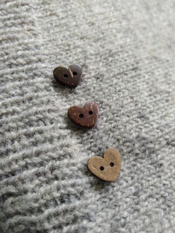 Kokosknapp, hjärta 19 mm