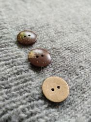 Slät kokosknapp,  20 mm