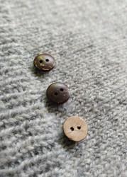 Slät kokosknapp,  13 mm