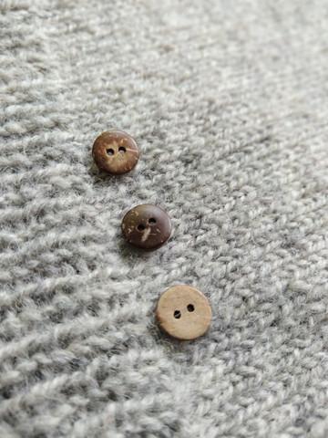 Slät kokosknapp,  10 mm