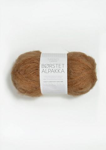 Harjattu Alpakka, ruskea sokeri 2543