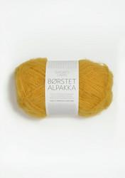 Børstet Alpakka, gul 2127