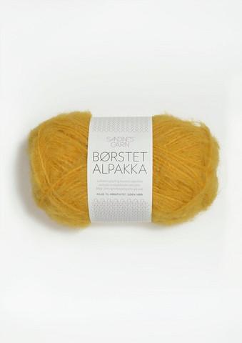 Harjattu Alpakka, keltainen 2127