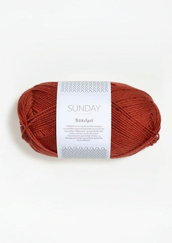 SUNDAY Petite Knit, brick 3536