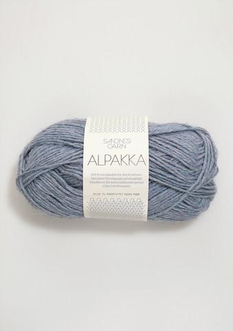 Sandnes Alpakka vaalean sinimeleerattu 6221