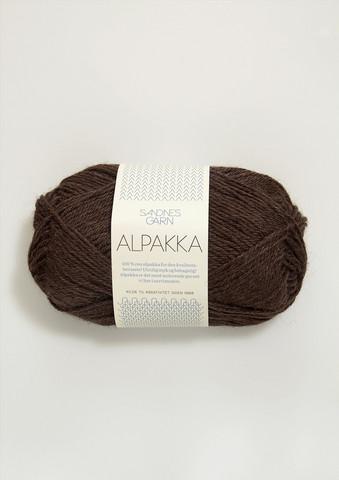 Sandnes Alpakka mörkbrun 4071
