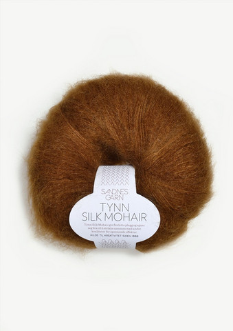 Tunn Silk Mohair, gyllenbrun 2755