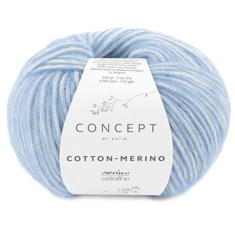 Concept by Katia Cotton Merino, Light Blue 131