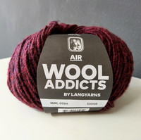 Wool Addicts Air 0064 Vinröd