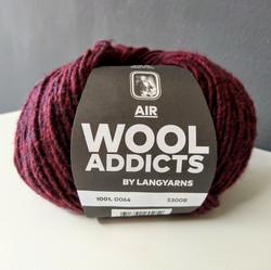 Wool Addicts Air 0064 Viininpunainen