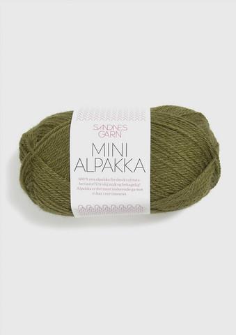 Sandnes Mini Alpakka, oliivinvihreä 9554