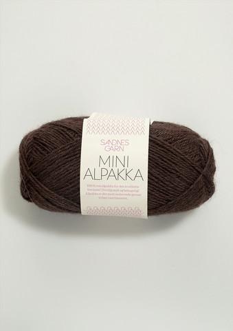 Sandnes Mini Alpakka, mörkbrun 4071