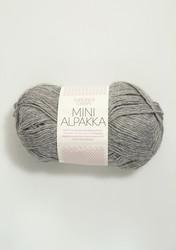 Sandnes Mini Alpakka, harmaameleerattu 1042