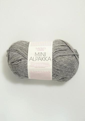 Sandnes Mini Alpakka, gråmelerad 1042