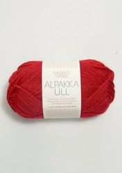 Alpakka Ull, röd 4219