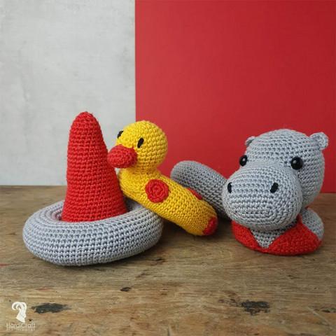 DIY-paket: Helga Hippo amigurumi