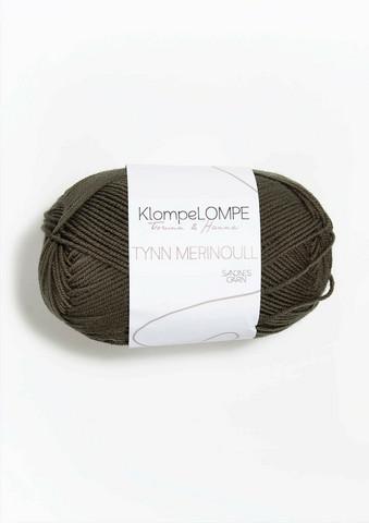 Sandnes KlompeLompe tynn merinoull, 9871 mörk oliv