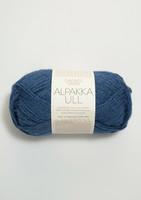 Alpakka Ull, mörkblå 6364