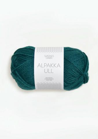 Alpakka Ull, djup petrol 7272