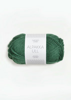 Alpakka Ull, mörkgrön 8063