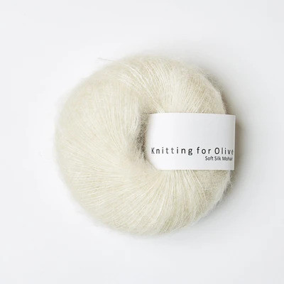 Knitting for Olive Soft Silk Mohair Off White