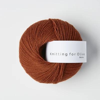 Knitting for Olive Merino Rust