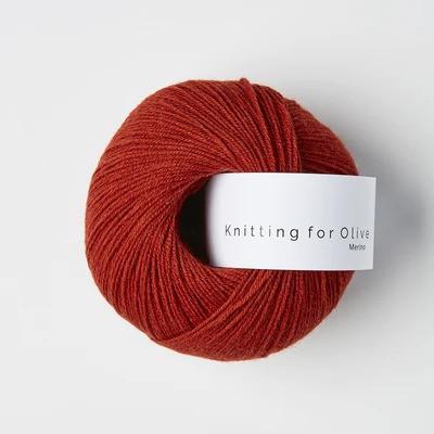 Knitting for Olive Merino Pomegranate