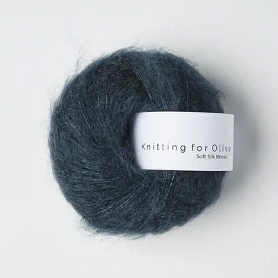 Knitting for Olive Soft Silk Mohair Deep Petroleum Blue