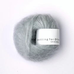 Knitting for Olive Soft Silk Mohair Soft Blue