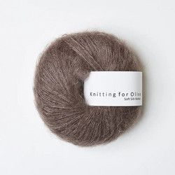 Knitting for Olive Soft Silk Mohair Plum Clay