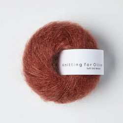 Knitting for Olive Soft Silk Mohair Forest Berry