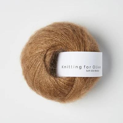 Knitting for Olive Soft Silk Mohair Brown Nougat