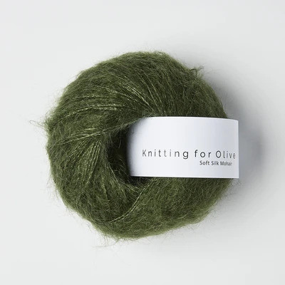 Knitting for Olive Soft Silk Mohair Bottle Green